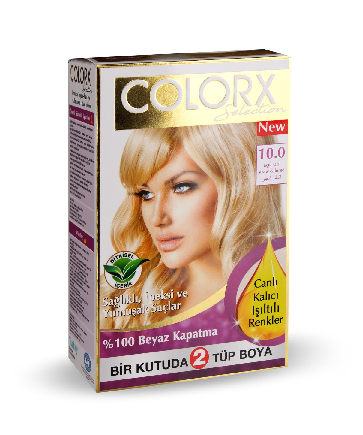 Colorx Selection Double Set Of Cream Hair Dye Oranj Cosmetics