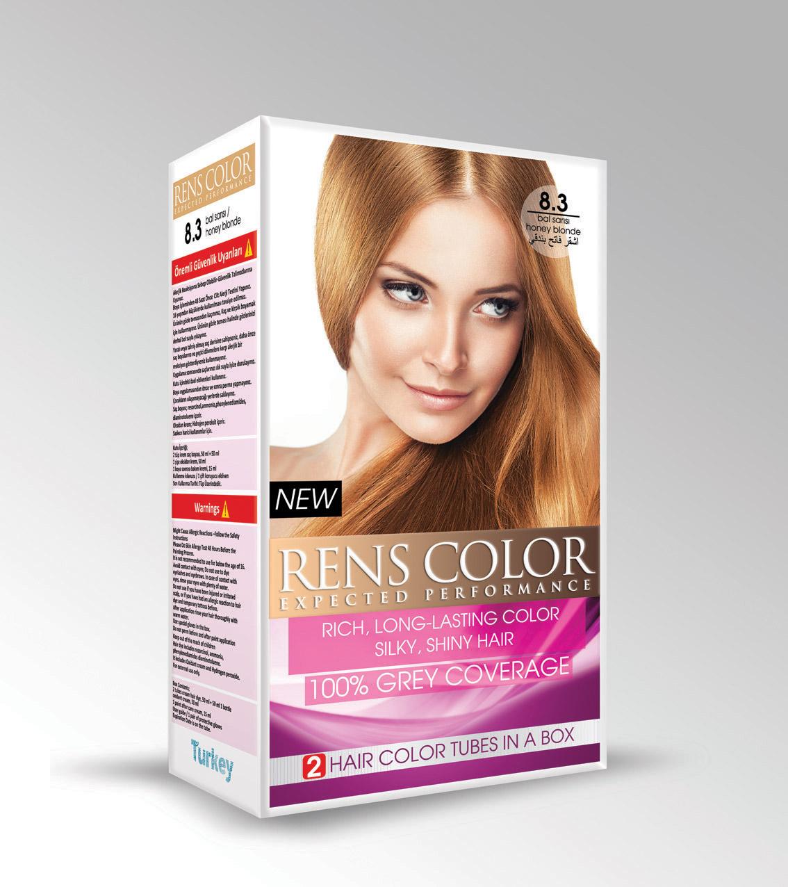 Rens Color Double Set Of Cream Hair Dye Maksis Kozmetik
